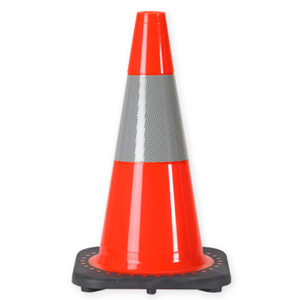"""18"""" 3 LB. Traffic Cone With One 6 Inch 3M? Reflective Collar"""