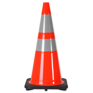 "28"" 7 LB. Slim Line Body Traffic Cone with 6 & 4 Inch 3M? Reflective Collar By The Pallet (CLONE)"