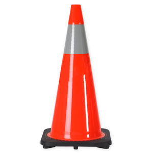 "36"" 10 LB. Wide Body Traffic Cone with One 6 Inch 3M? Reflective Collar"